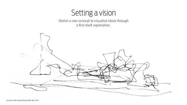 Responsive Web Design Workshop | Milan March 2014 Sketch a raw concept to visualise ideas through  a first draft explorat...