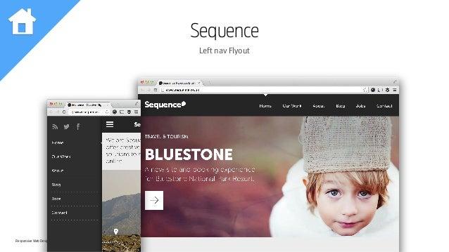 Responsive Web Design Workshop | Milan March 2014 Sequence Left nav Flyout