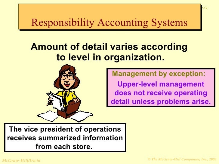 what is responsibility of accounting Responsibility accounting january 13, 2018 / steven bragg for example, the cost of rent can be assigned to the person who negotiates and signs the lease , while the cost of an employee's salary is the responsibility of that person's direct manager.