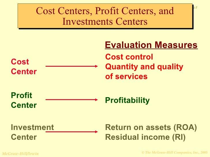 profit center vs cost center