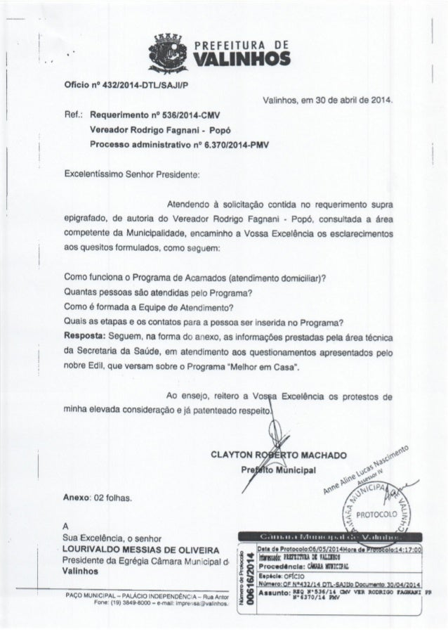 Resposta ao req. nº 536 2014 (informações sobre o funcionamento