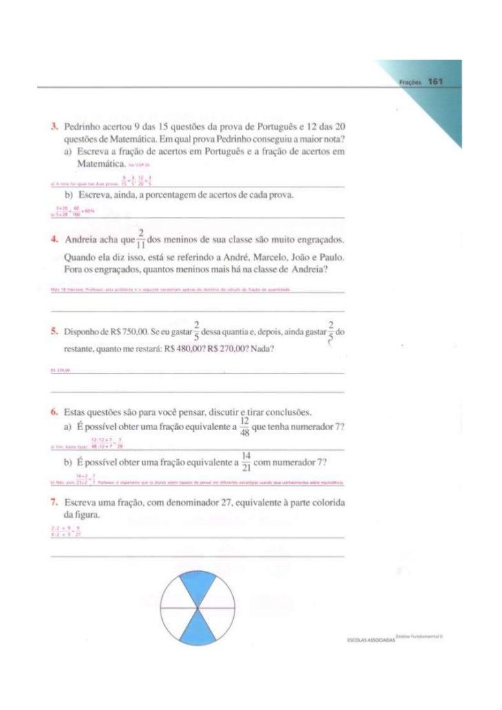 Resposta das atividades   livro paginas ( 161 a 167)
