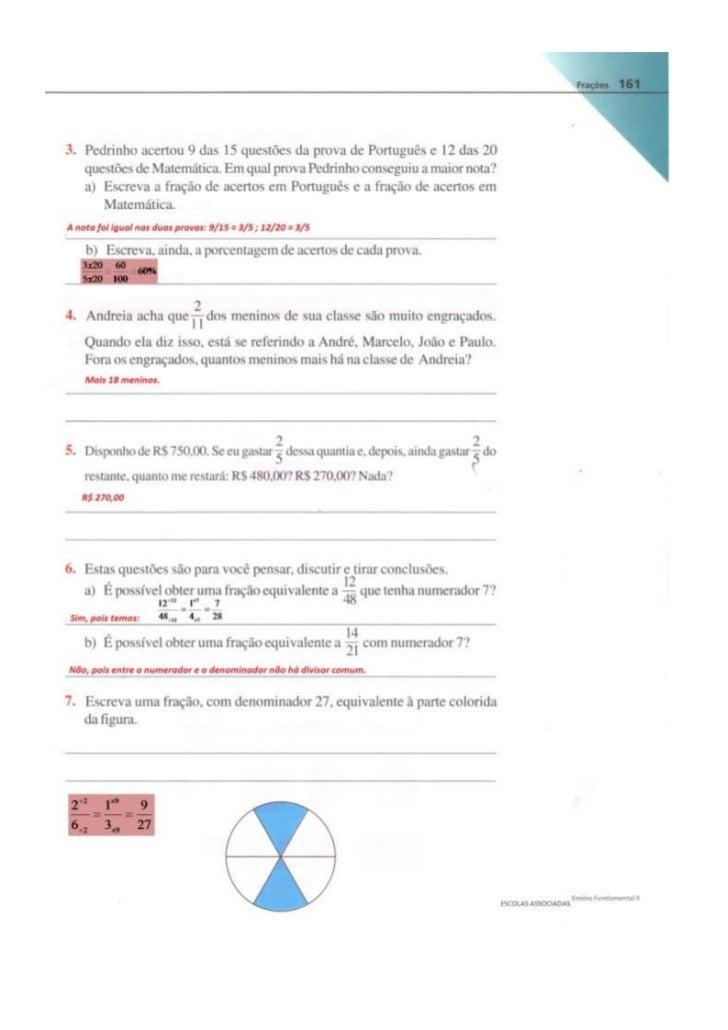 Resposta das atividades (pag. 161 a 170)