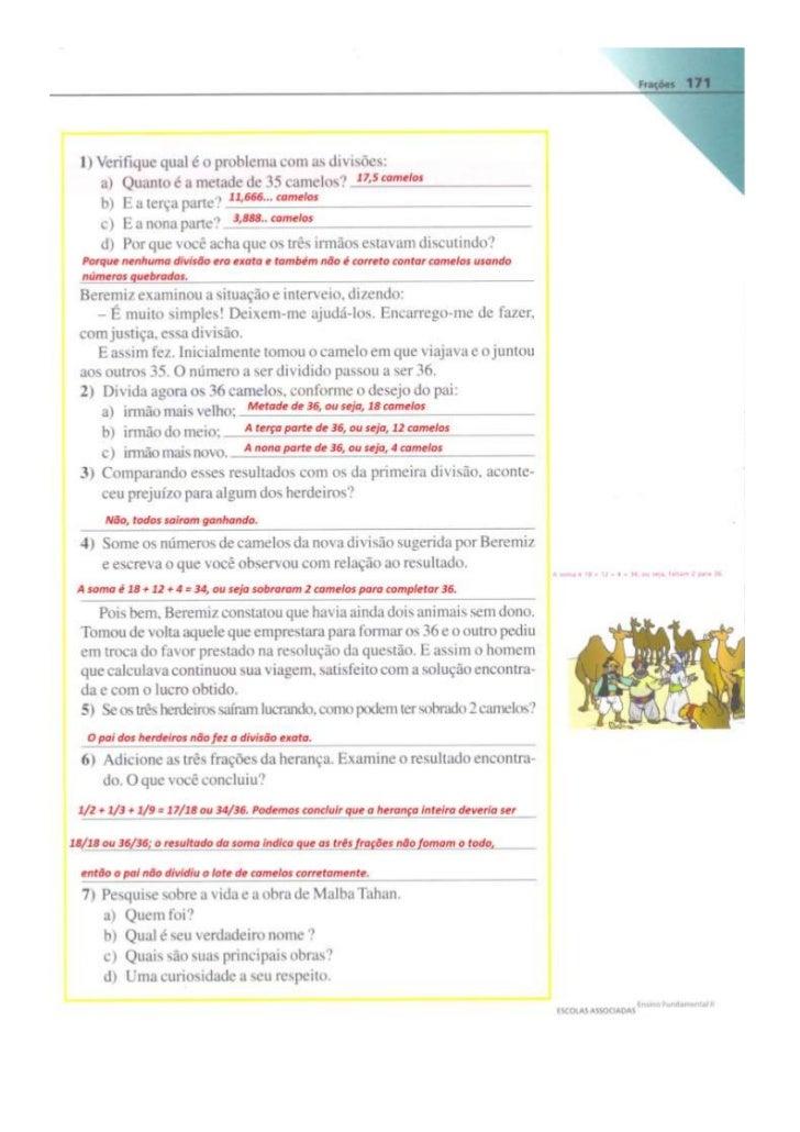 Resposta das atividades (pag. 171 a 180)