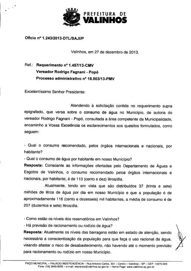 Resposta req. nº 1457 2013