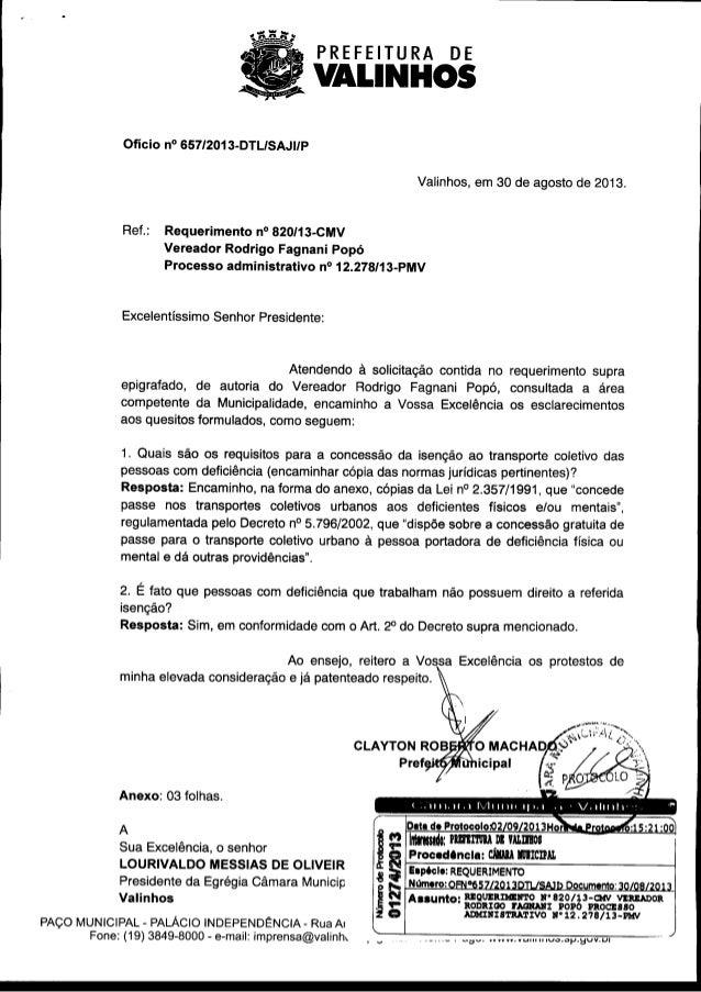 Resposta req. nº 820 2013
