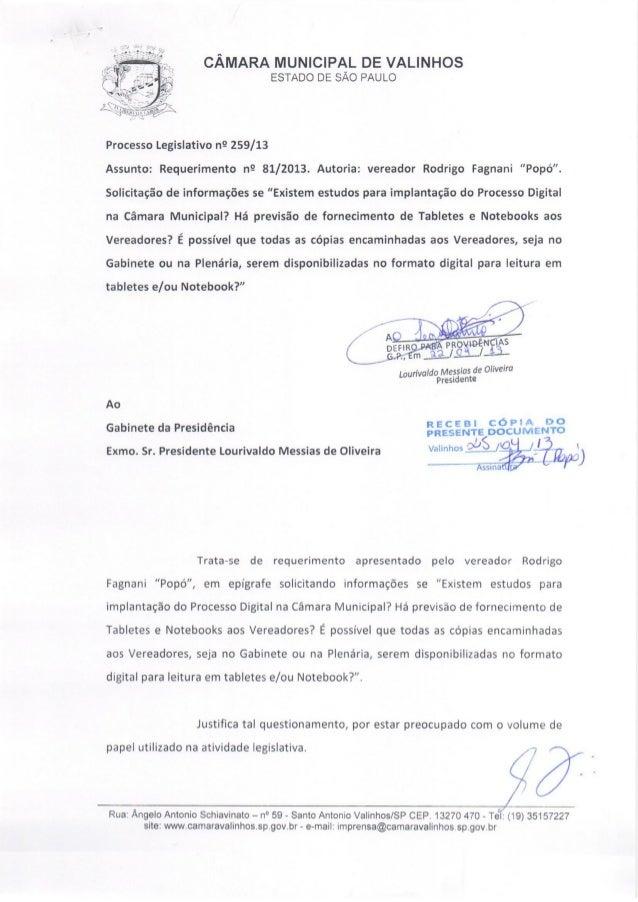 Resposta req. nº 81 2013 (implantação de processo digital na cmv))