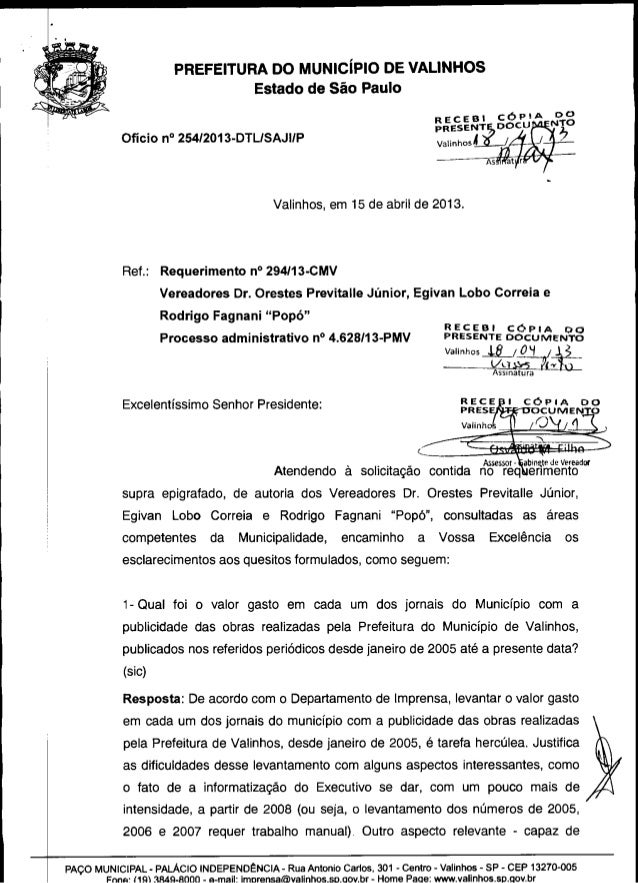 Resposta req. nº 294 2013