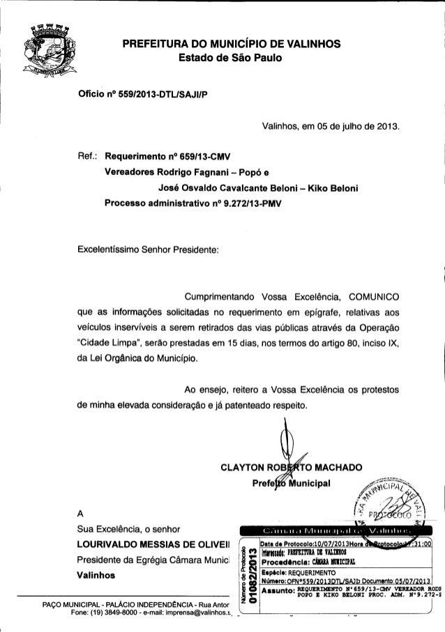 Resposta req. nº 659 2013 (informações sobre recolhimento veículos inservíveis)