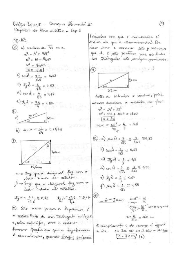 Respostas do livro didático - Matemática - 9º ano - Bianchini Slide 2
