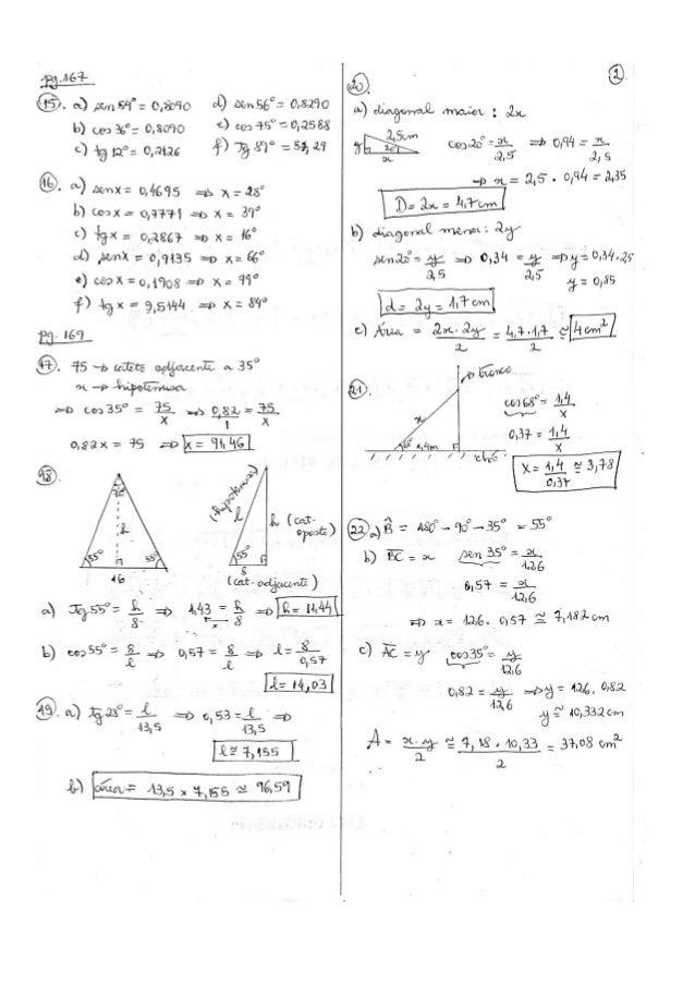 Respostas do livro didático - Matemática - 9º ano - Bianchini Slide 3