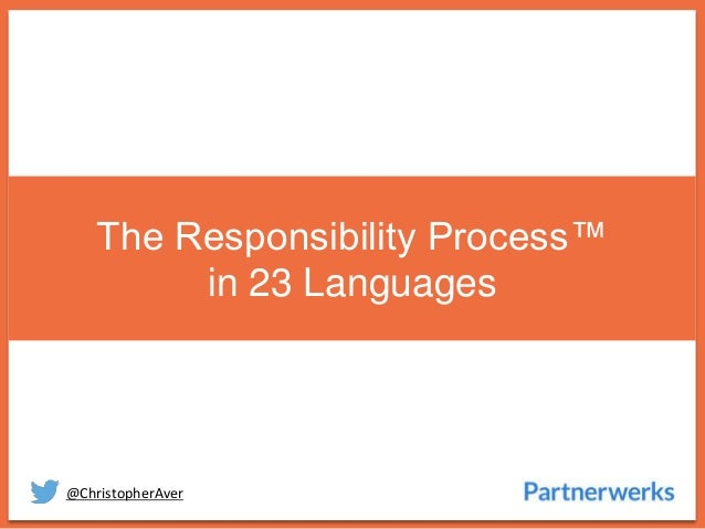 @ChristopherAver The Responsibility Process™ in 23 Languages