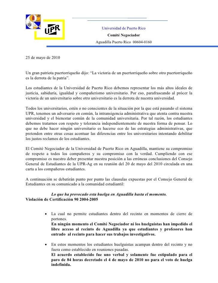 Universidad de Puerto Rico                                                 Comité Negociador                              ...