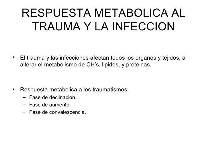 Respuesta metabolica al trauma y la infeccion Slide 2