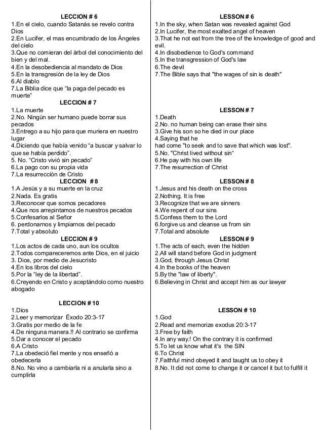 Respuestas de la fe de jesus en ingles y espanol Slide 3