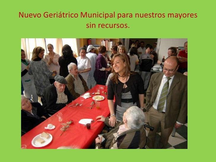 Nuevo Geriátrico Municipal para nuestros mayores sin recursos.<br />