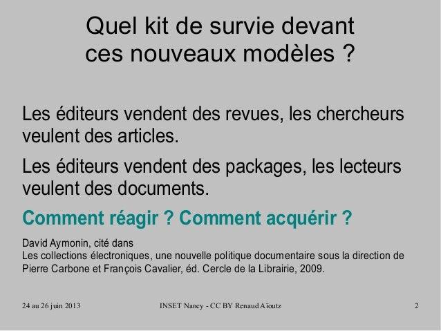 Ressources numériques et politique documentaire hybride Slide 2