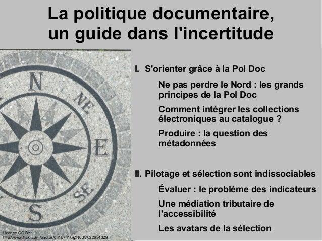 Ressources numériques et politique documentaire hybride Slide 3
