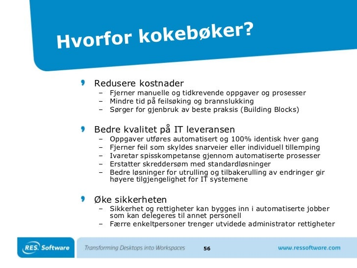 Mer om RES PowerFuse<br />Zero Profile Technology<br />Folder Synchronization<br />Workspace Extender<br />User Centric Se...