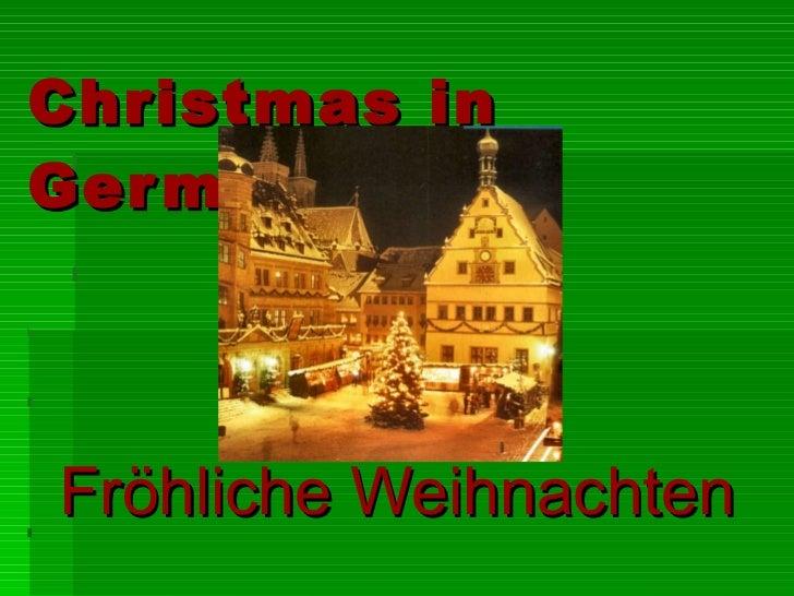 Christmas in Germany Fröhliche Weihnachten
