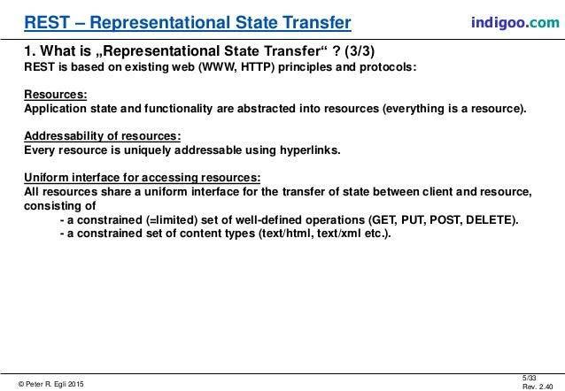 Representation state transfer