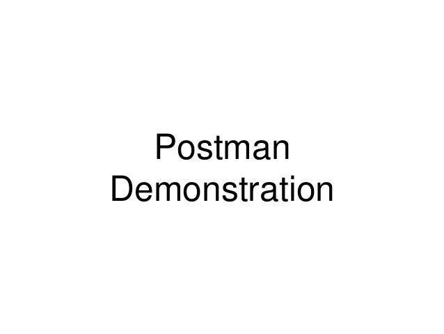 Postman  Demonstration