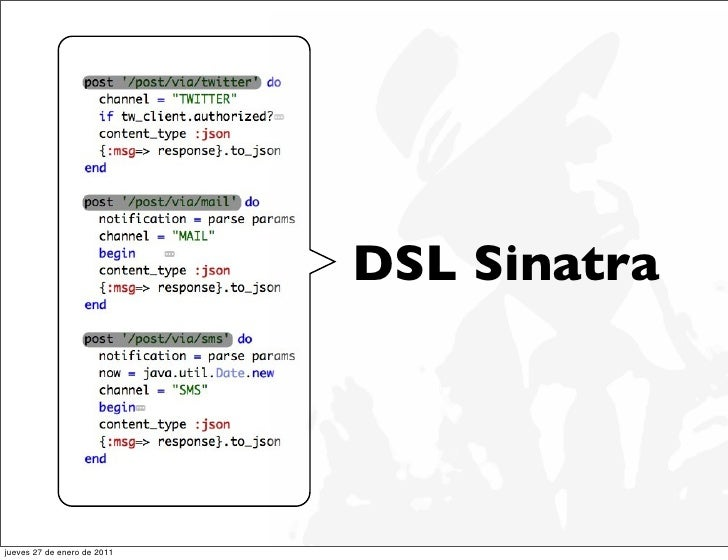 DSL Sinatrajueves 27 de enero de 2011