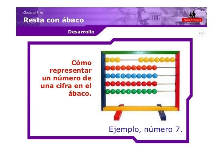 Clases en líneaResta con ábaco                    Desarrollo                     Cómo              representar            ...