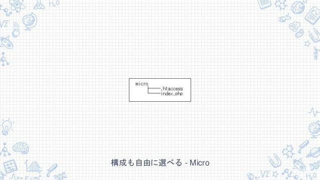 構成も自由に選べる - Micro