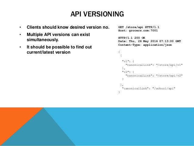 Rest api standards and best practices