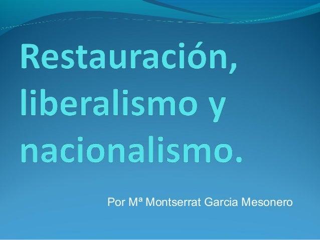 Por Mª Montserrat Garcia Mesonero
