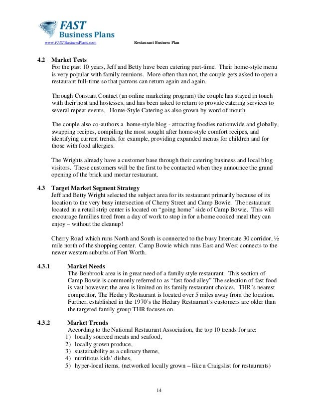 Catering Business Plan Yelommyphonecompanyco - Catering business plan template