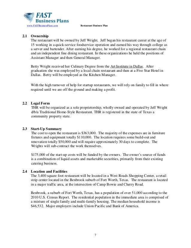 Housing association business plan assumptions examples for Small business association business plan template