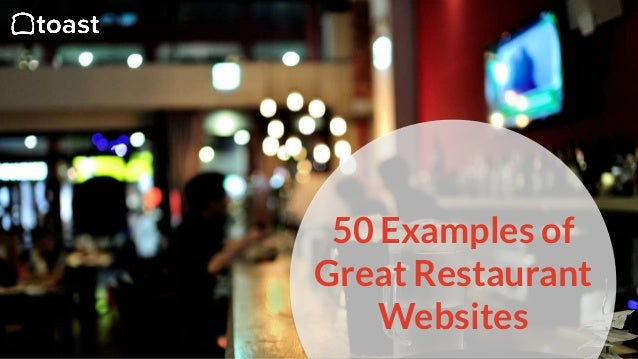 50 Examples of Great Restaurant Websites