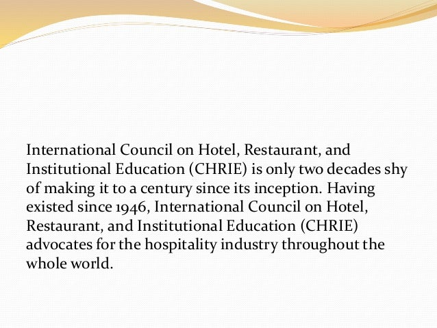 Hospitality - Hotel and Restaurant Operations Management