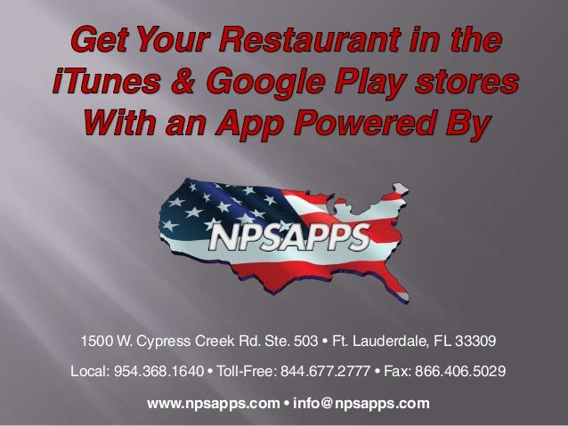 1500 W. Cypress Creek Rd. Ste. 503 • Ft. Lauderdale, FL 33309 Local: 954.368.1640 • Toll-Free: 844.677.2777 • Fax: 866.406...