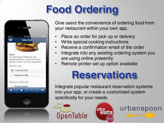 Restaurant Mobile App Presentation