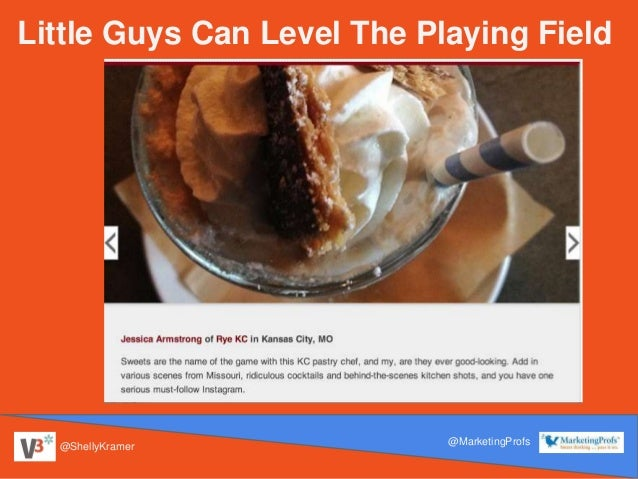 @ShellyKramer @MarketingProfs Little Guys Can Level The Playing Field