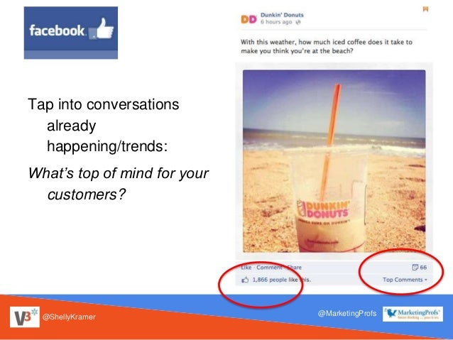 @ShellyKramer @MarketingProfs Tap into conversations already happening/trends: What's top of mind for your customers?