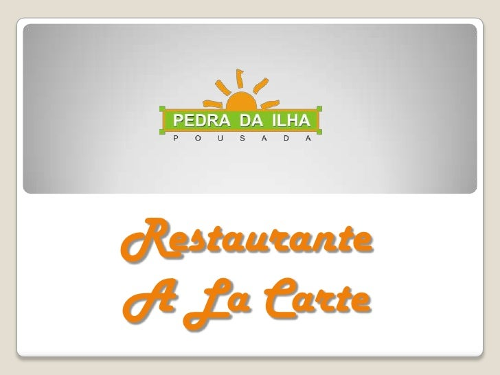 RestauranteA La Carte