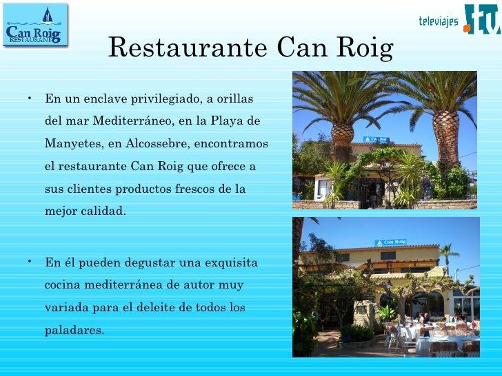 Restaurante en alcocebre Can Roig en Televiajes.Tv Slide 2