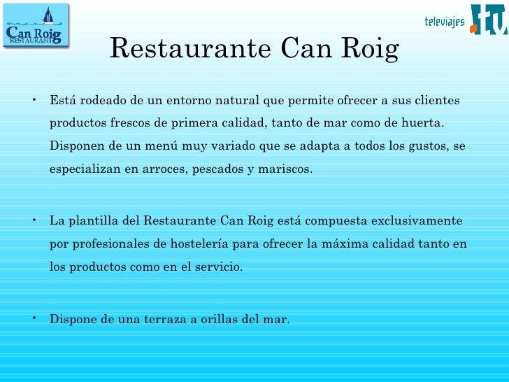 Restaurante en alcocebre Can Roig en Televiajes.Tv Slide 3