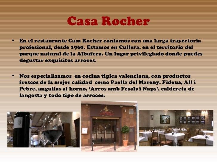 Arroces y anguila en el restaurante casa rocher cerca de valencia - Restaurante casa de valencia ...