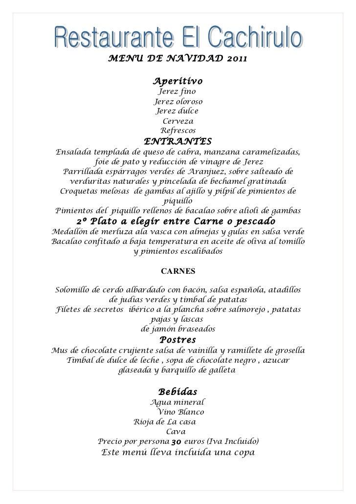 Restaurante el cachirulo men de navidad 1 - Restaurante para navidad ...