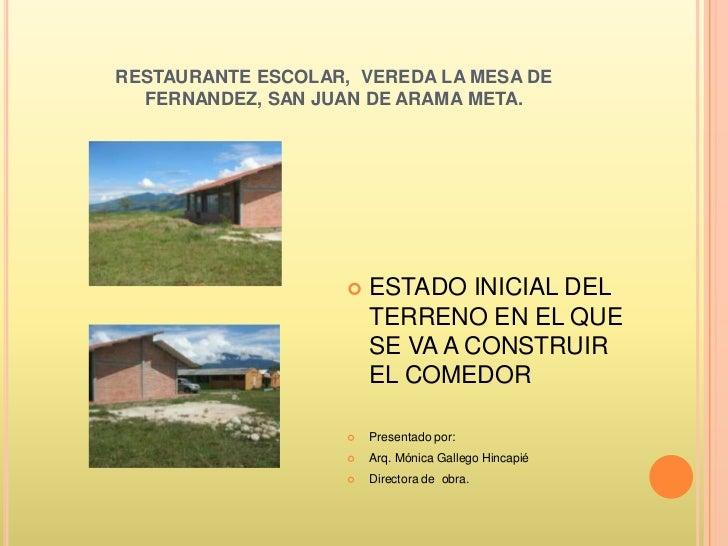 Restaurante Escolar Vereda La Mesa De Fernandez