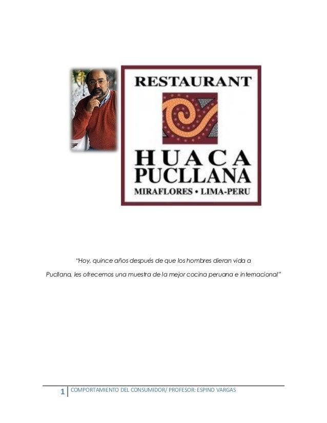 """""""Hoy, quince años después de que los hombres dieran vida aPucllana, les ofrecemos una muestra de la mejor cocina peruana e..."""