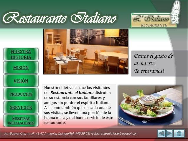 Restaurante Italiano                                                                        L' Italiano                   ...