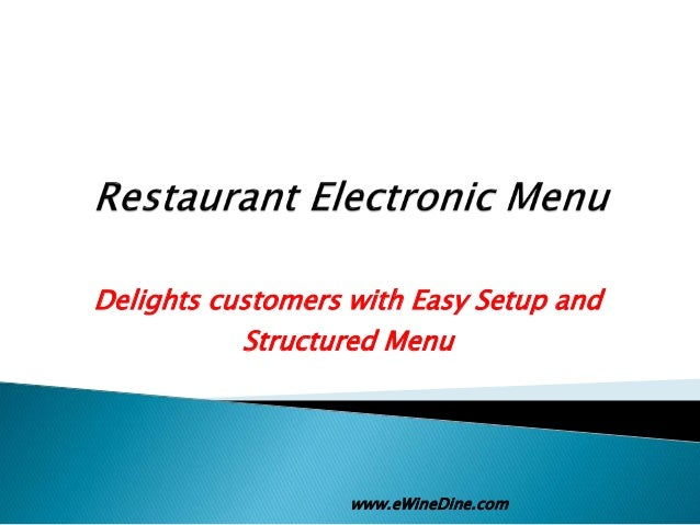 restaurant electronic menu