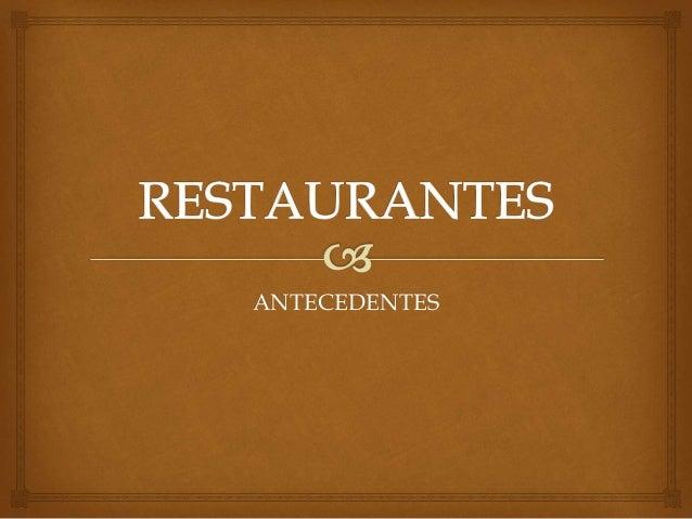 Restaurantes y tipos de restaurantes for Tipos de restaurantes franceses