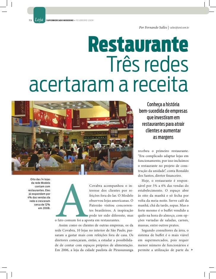 73   Loja      Supermercado moderno • FEVEREIRO 2009                                                                      ...
